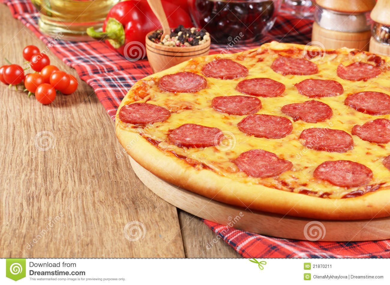 Stock image pizza on the table image 21870211 for Table a pizza