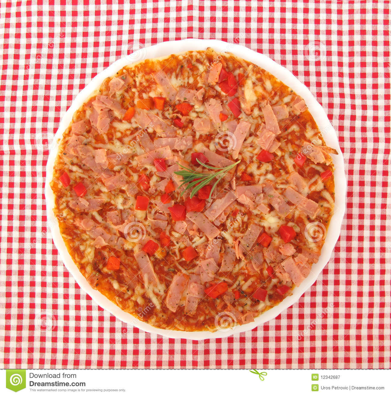 Pizza On Table With Fork And Knife Full Frame Stock Image Image Of Ingredient Green 12342687