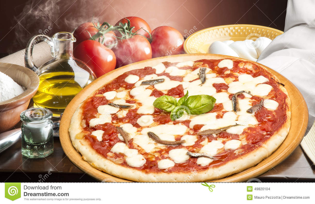 Pizza on the table stock photo image 49820104 for Table a pizza