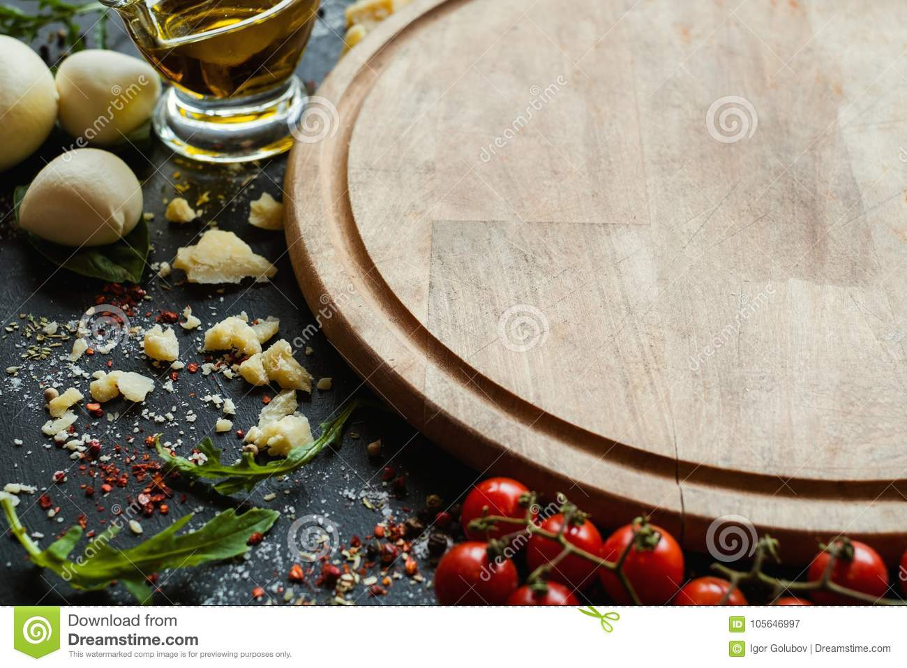 Pizza Template Traditional Italian Food Stock Image - Image of wood ...