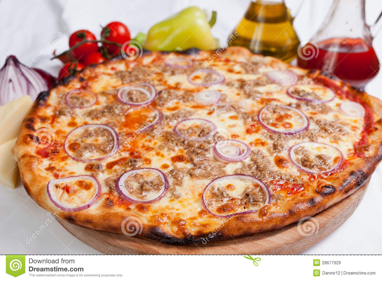 Pizza Tonno Stock Image Image Of Dough Junk Home Food