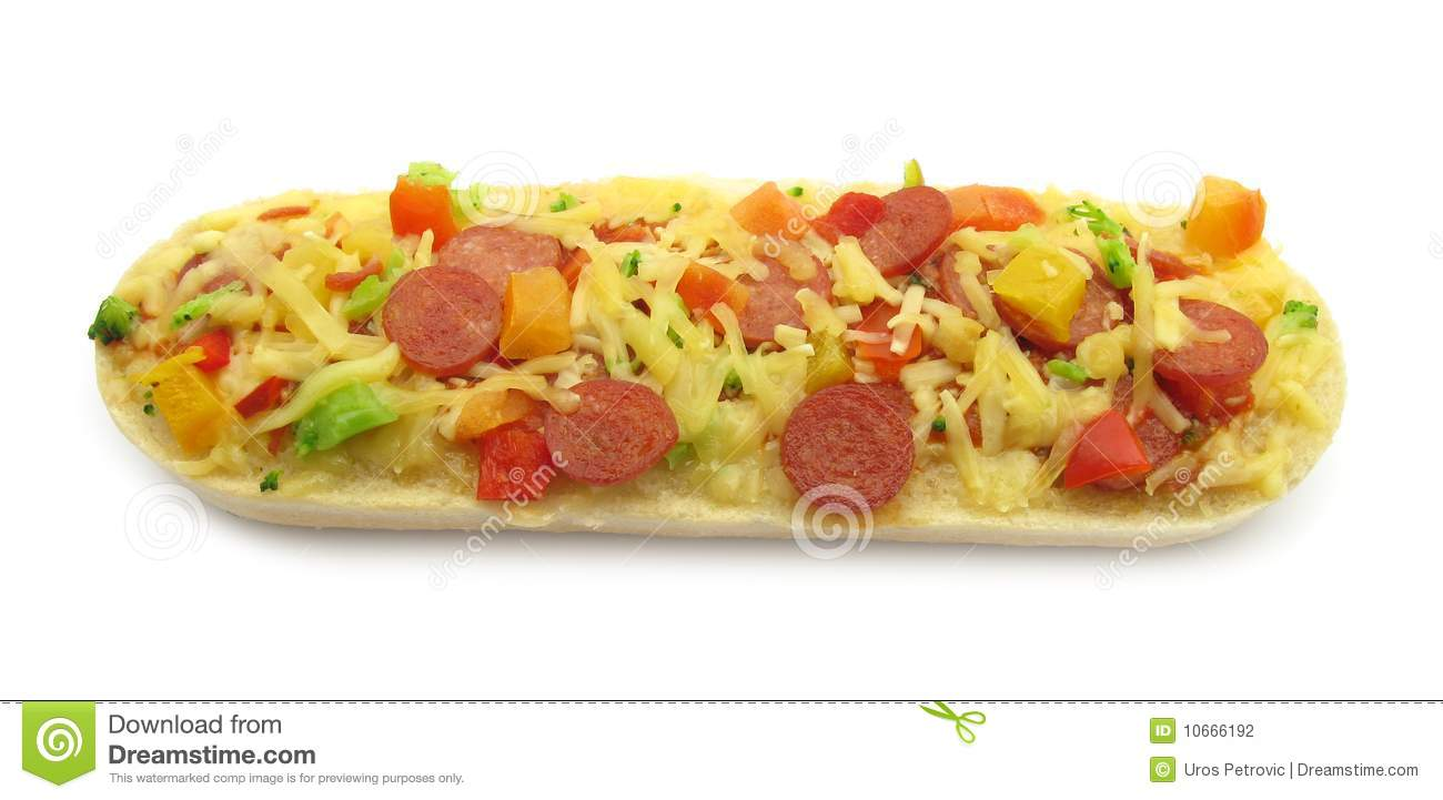 Pizza Topped Bruschetta Baguette Sandwich Stock Photography   Image