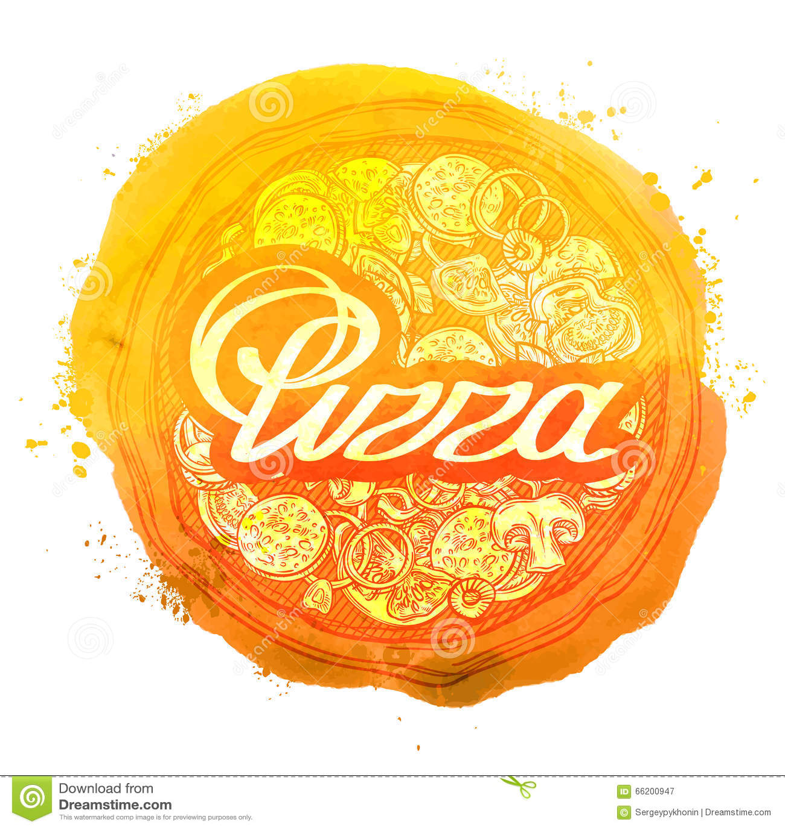 pizza vector logo design template pizzeria or food icon stock