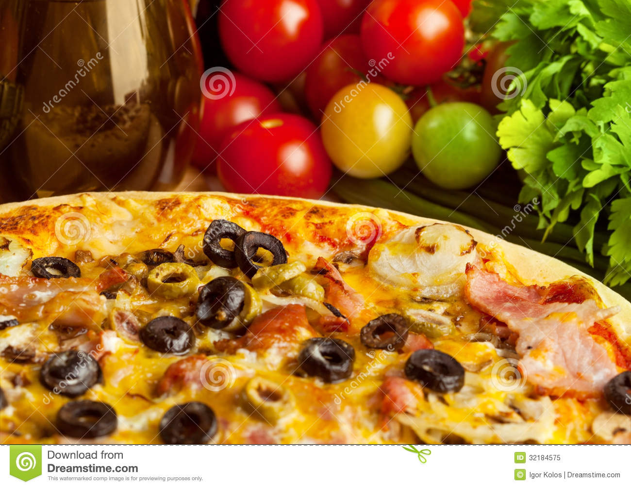 Pizza And Vegetables Royalty Free Stock Photo - Image ...