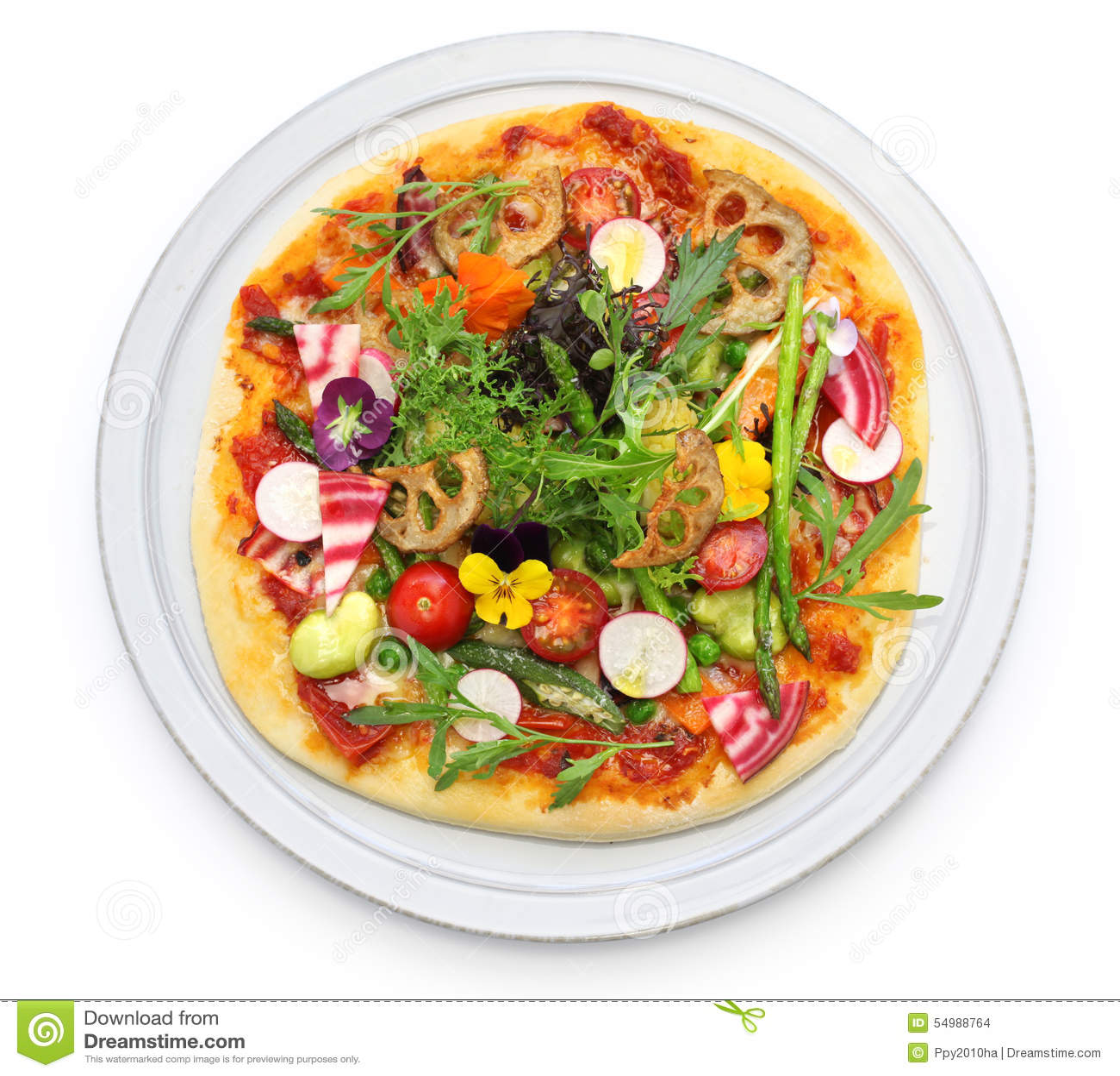 Pizza vegetal sana