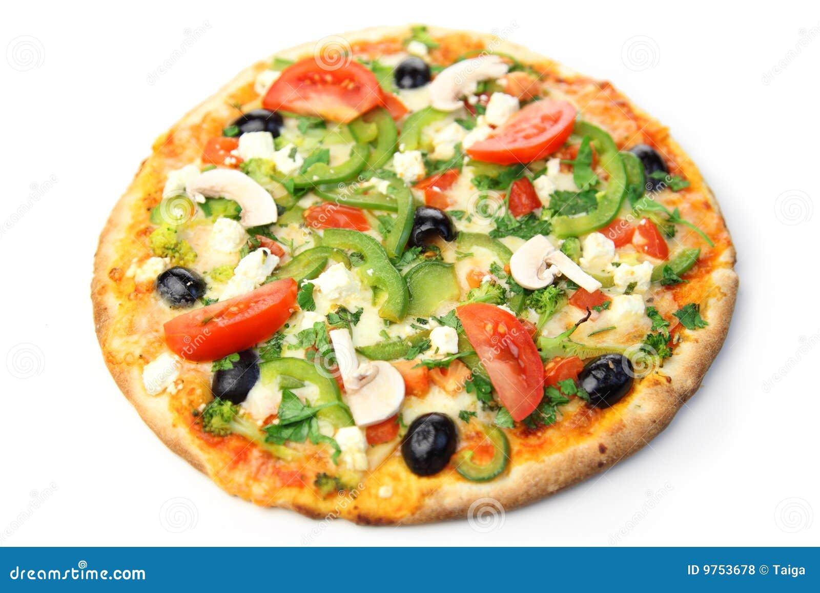 Pizza / white background