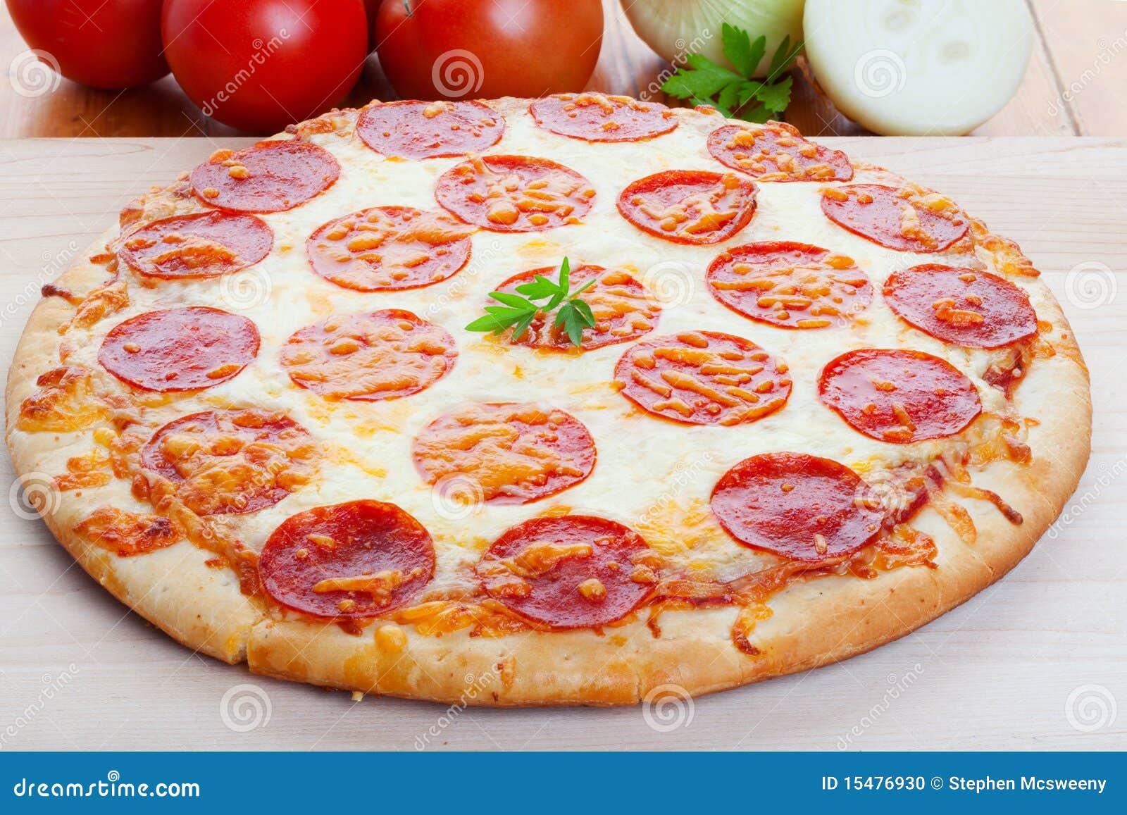 Pizza on wood