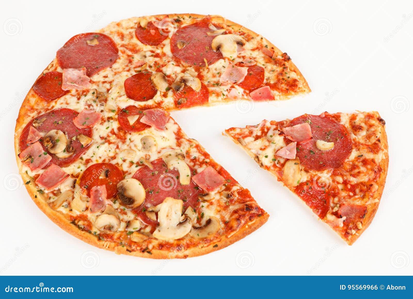Pizza z baleronem i salami