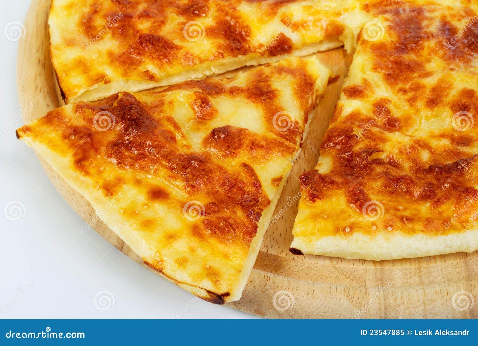 pizzabrot mit käse stockbild bild