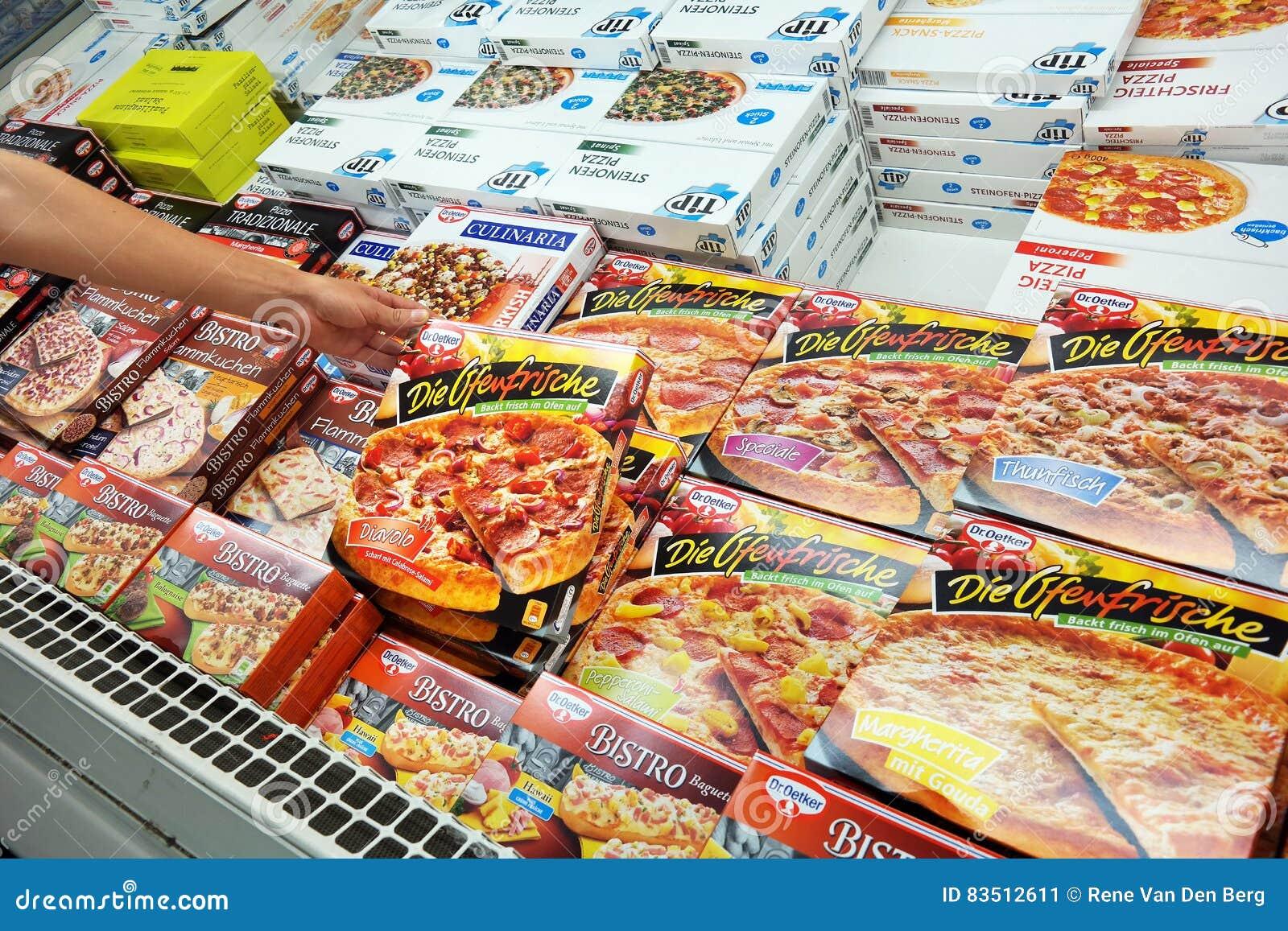 Pizzas in Freezer