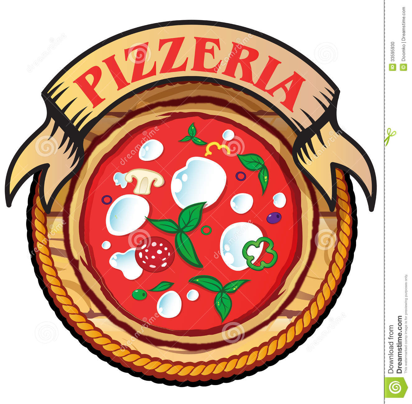 Pizza Template Clipart