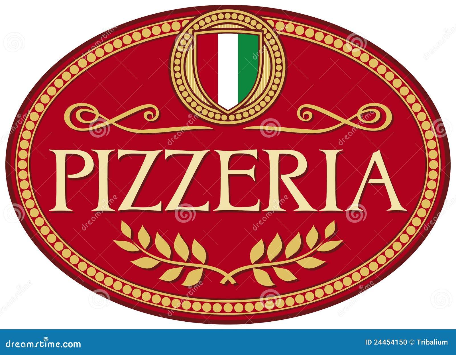 Pizzeria label design stock vector illustration of for Pizza pizzeria