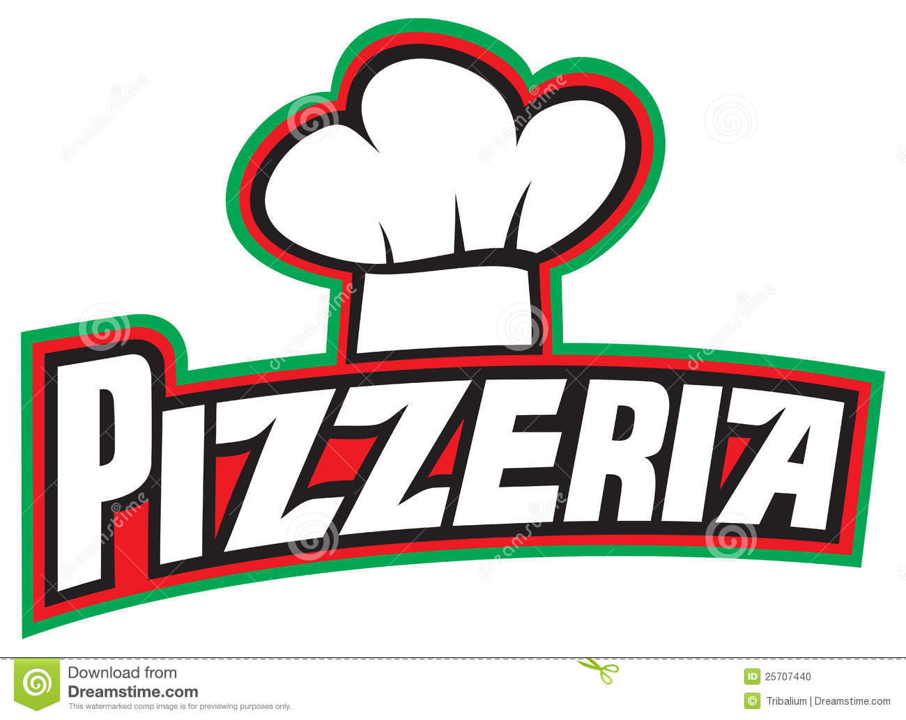Pizzeria Label Design Stock Photo Image 25707440