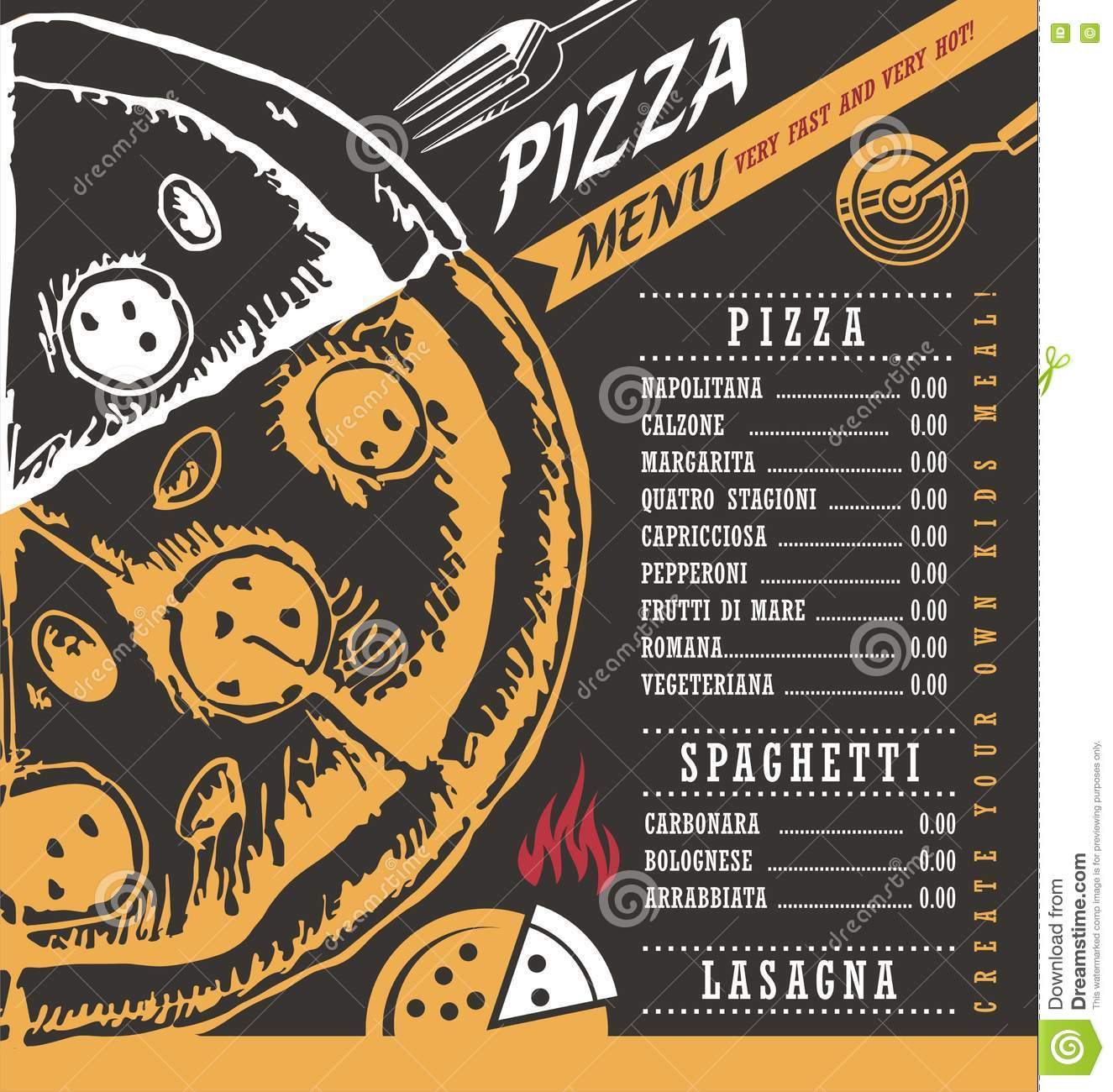 pizza menu design - Roberto.mattni.co