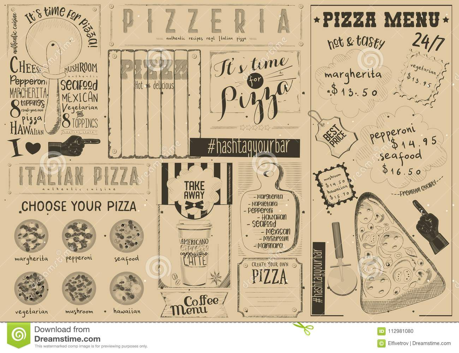 Pizza Menu Placemat