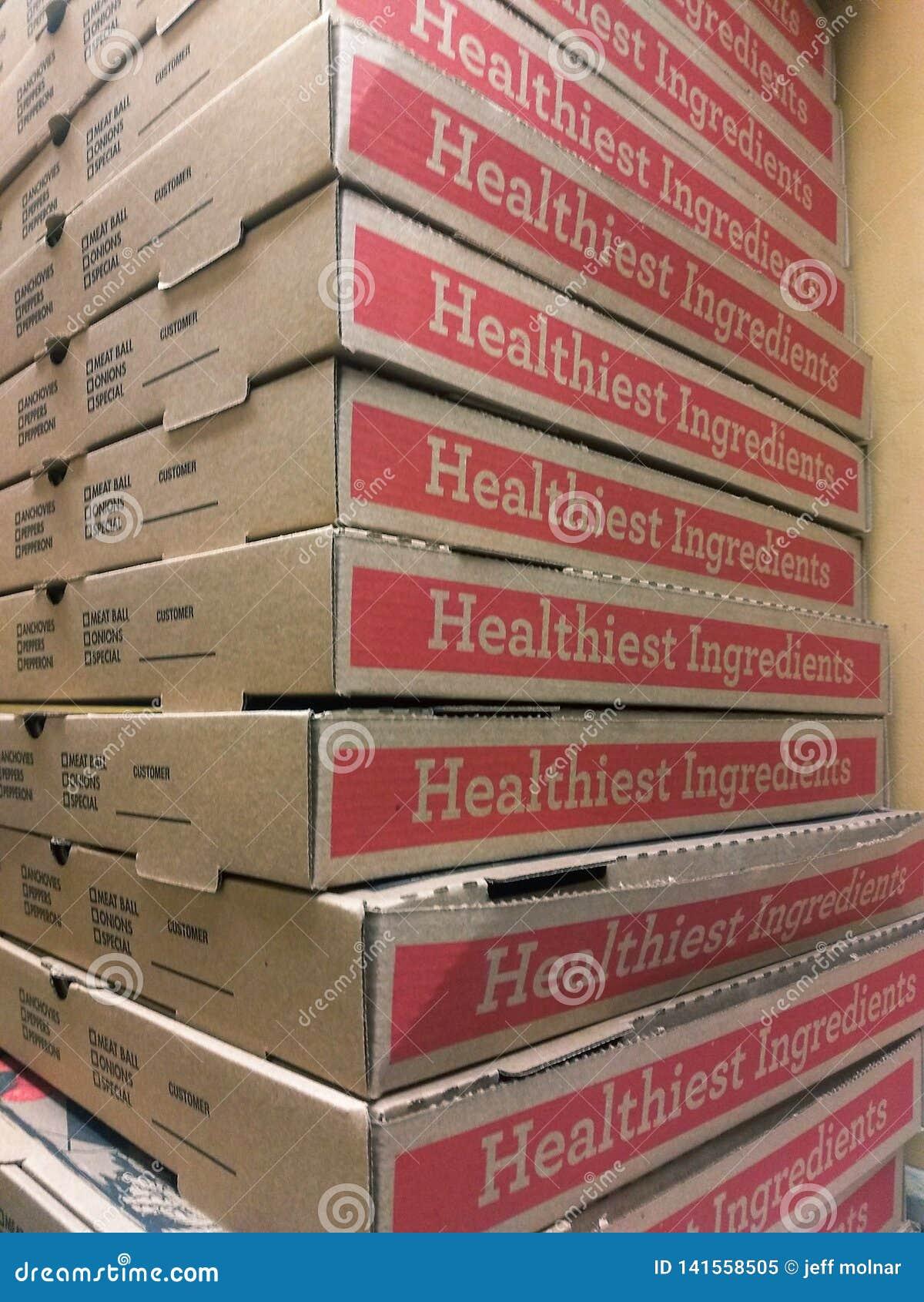 Pizzy pudełko brogująca wysokość w Włoskiego restauracyjnego Brown kartonu karmowy doręczeniowym bierze za