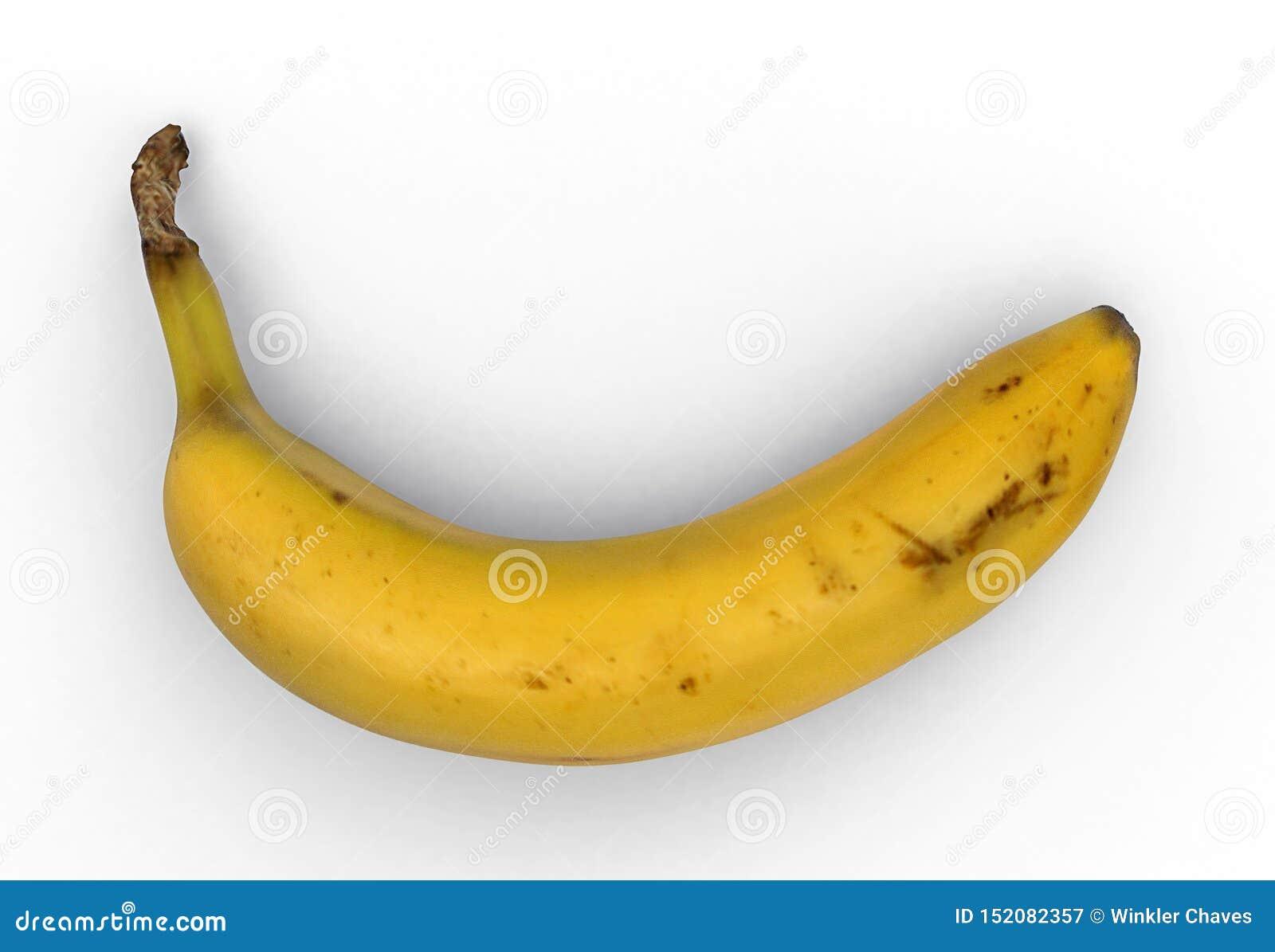 Plátano, fondo blanco, trayectoria de recortes