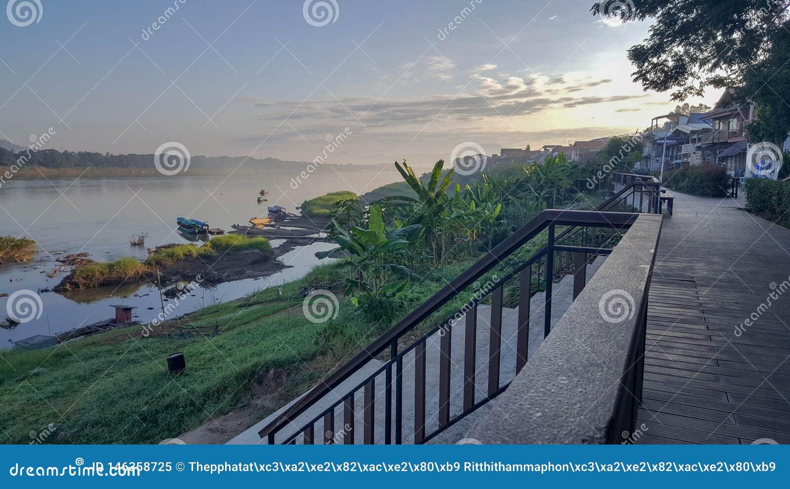 Plätze entlang dem Mekong