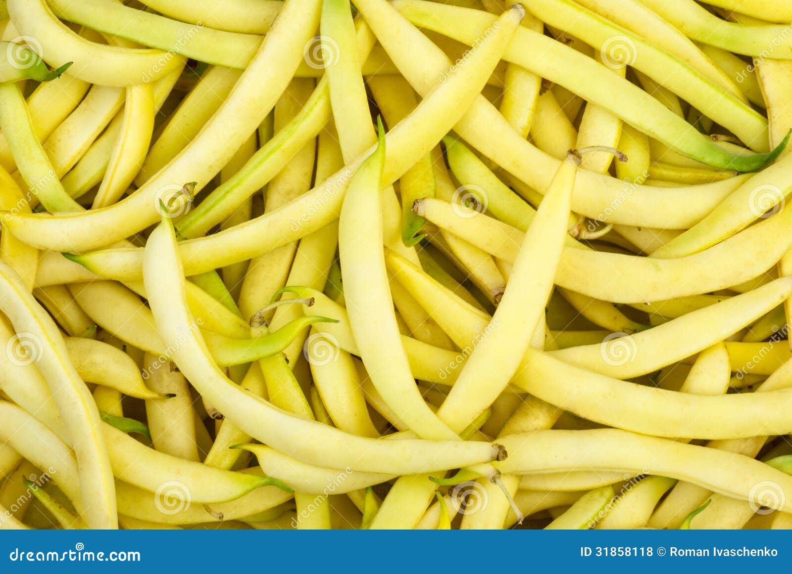 Plötsliga bönor för gult vax