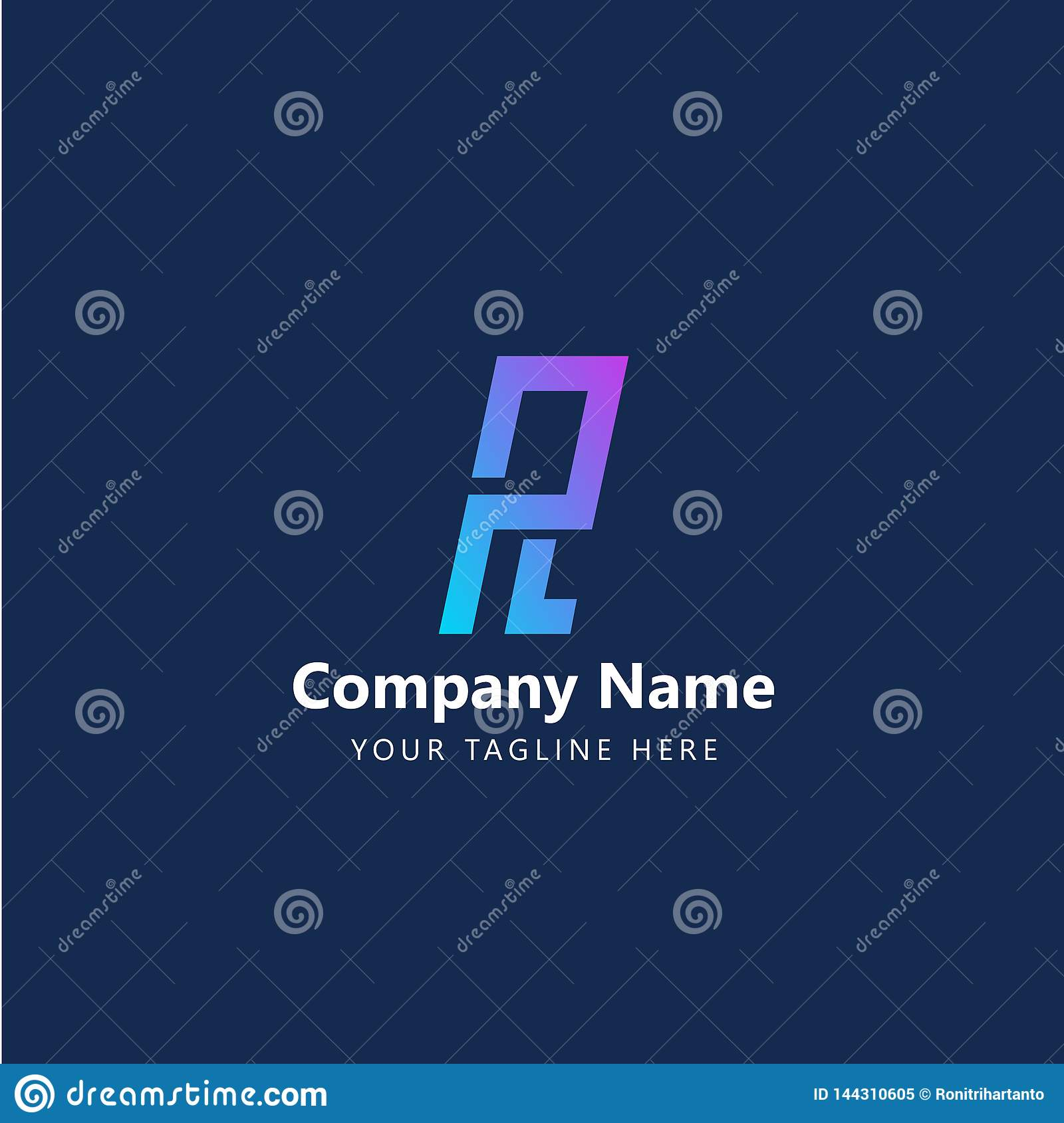 PL initial Logo Design Vector
