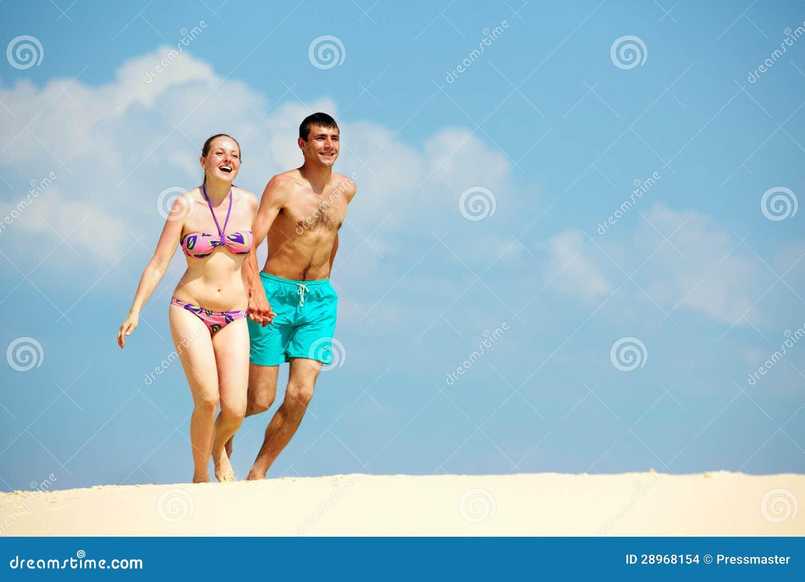 Plaża dla dwa