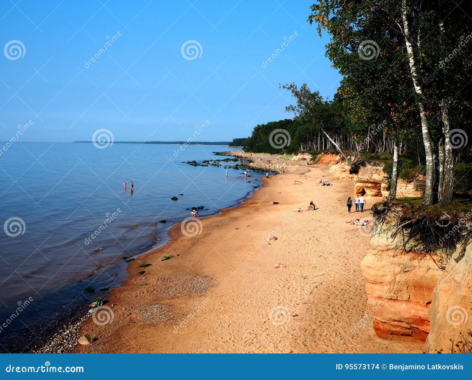 Plaża w obszarze wiejskim, Latvia