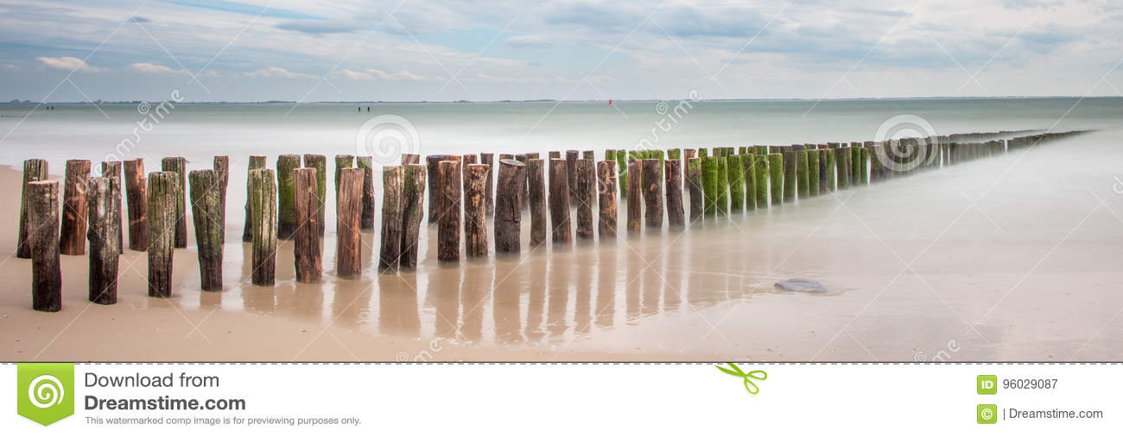 Plaża, Zeeland, longexposure