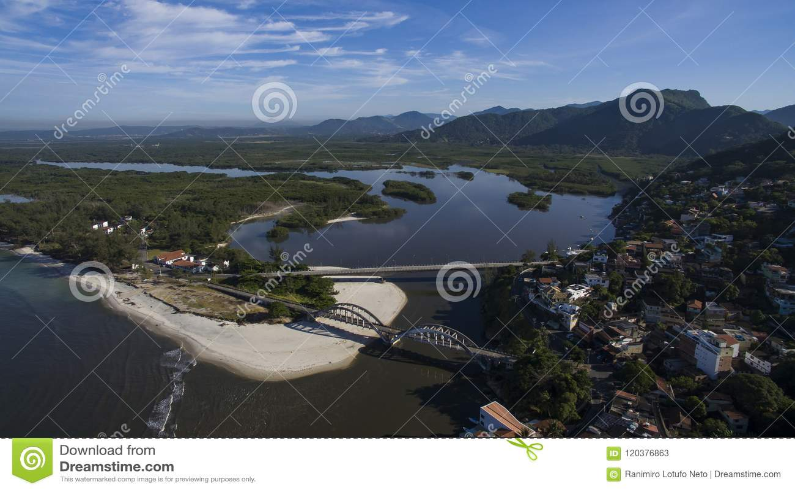 Plaże i paradisiacal miejsca, cudowne plaże dookoła świata, Restinga Marambaia plaża, Rio De Janeiro, Brazylia