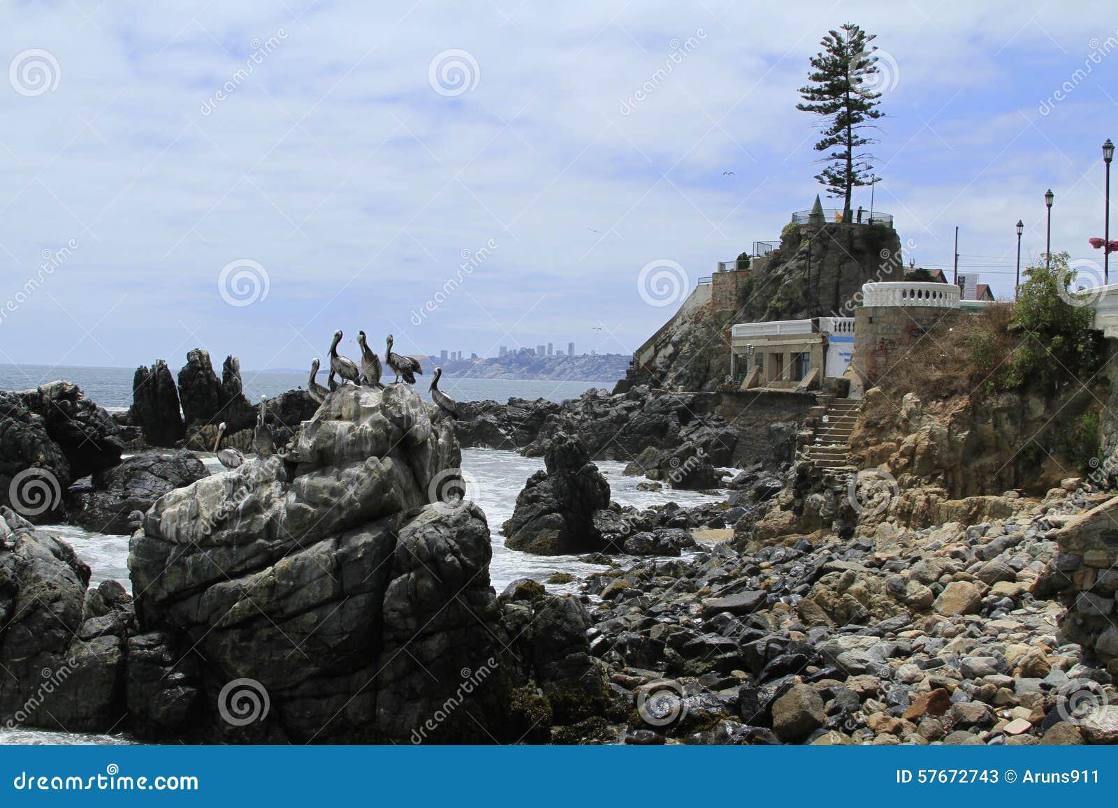Plaże Valparaiso, Vina Del Mącący, Chile