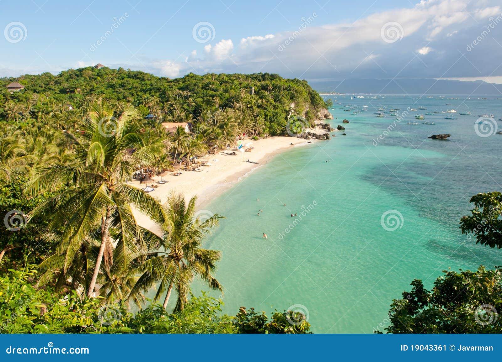 Plażowa Boracay diniwid wyspa Philippines