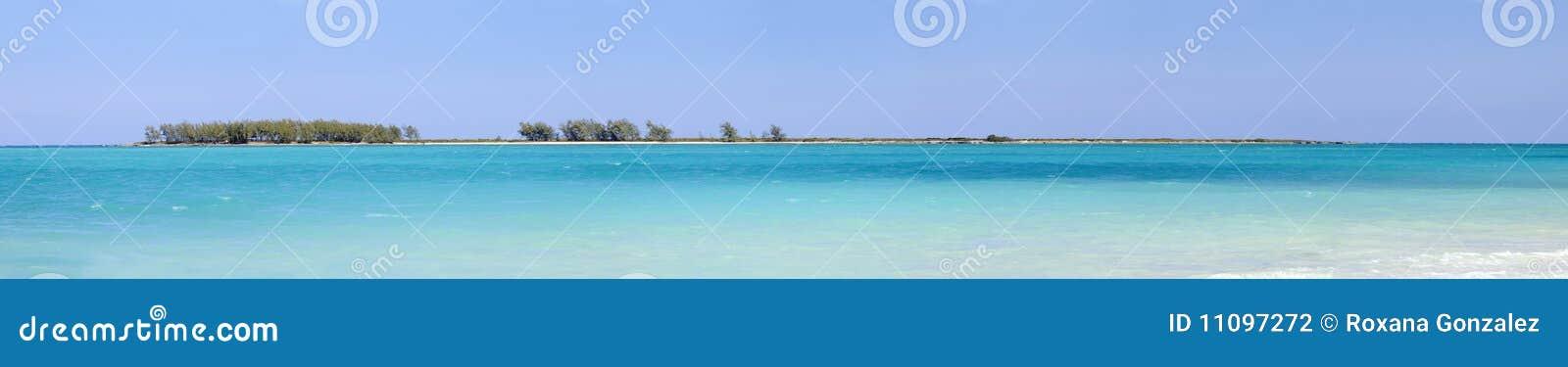 Plażowa cayo coco Cuba panorama