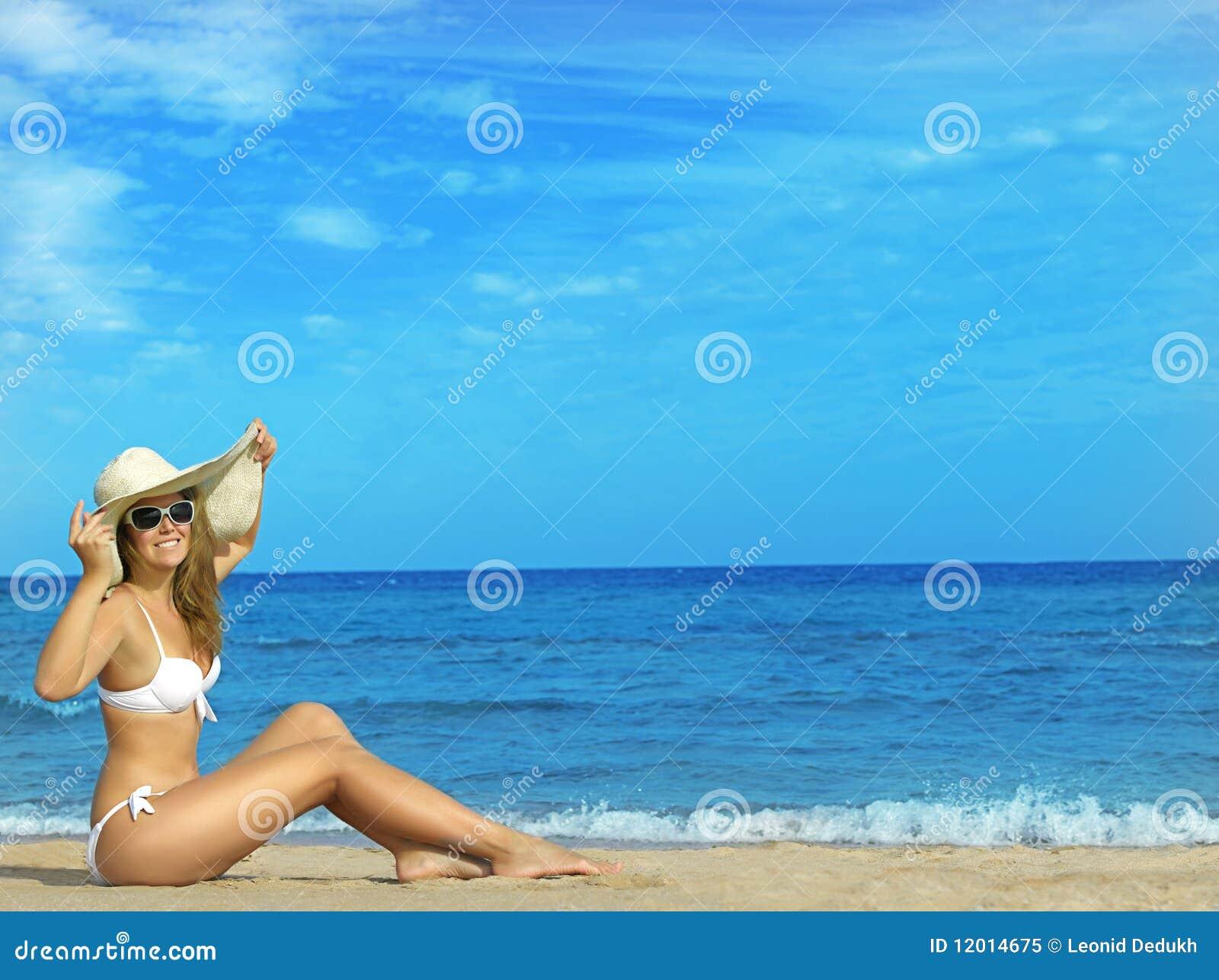 Plażowa kobieta