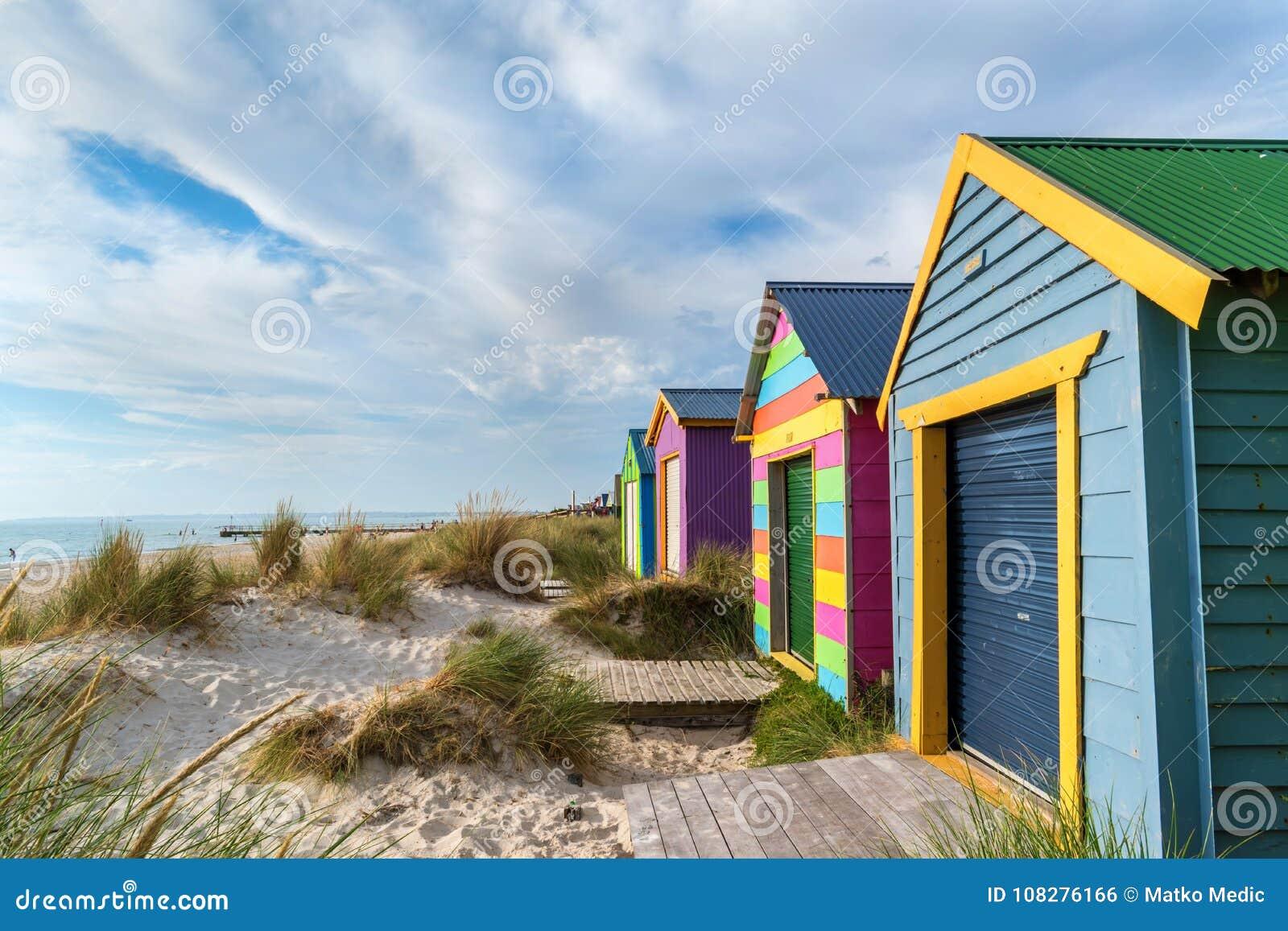 Plażowe kabiny na Chelsea plaży, Wiktoria, Australia 1