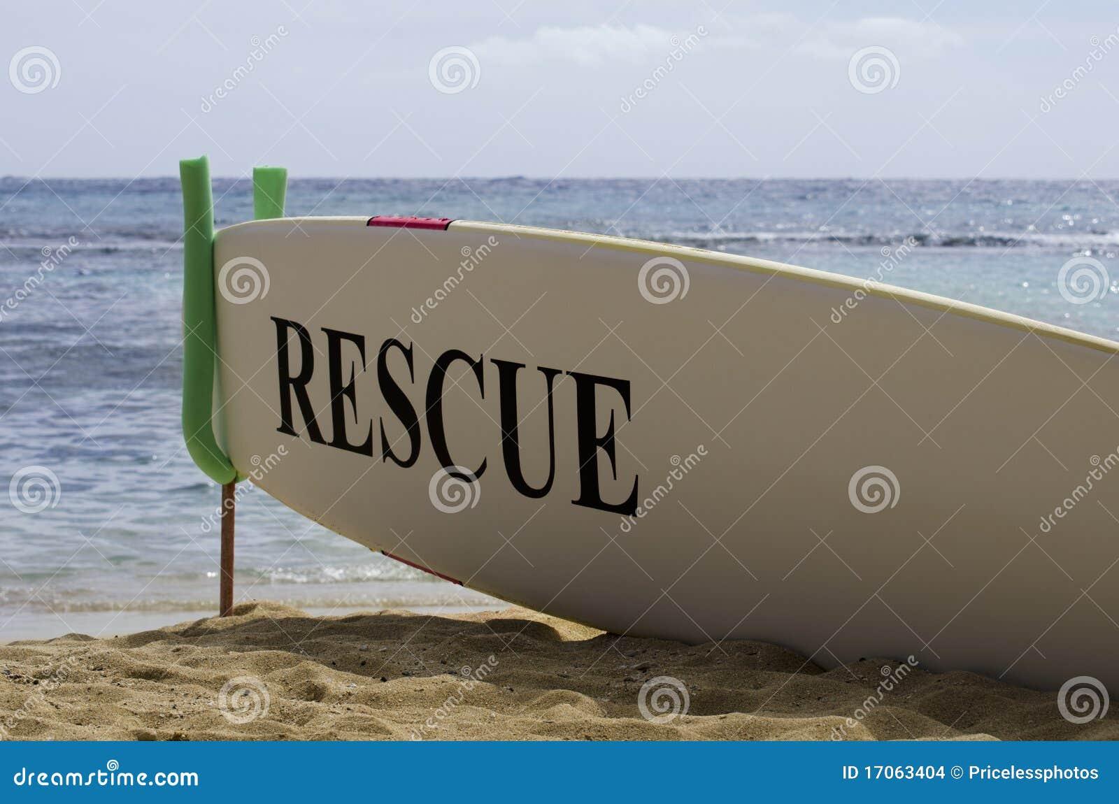 Plażowego deskowego pojęcia hawajczyka zbawcza piaskowata kipiel