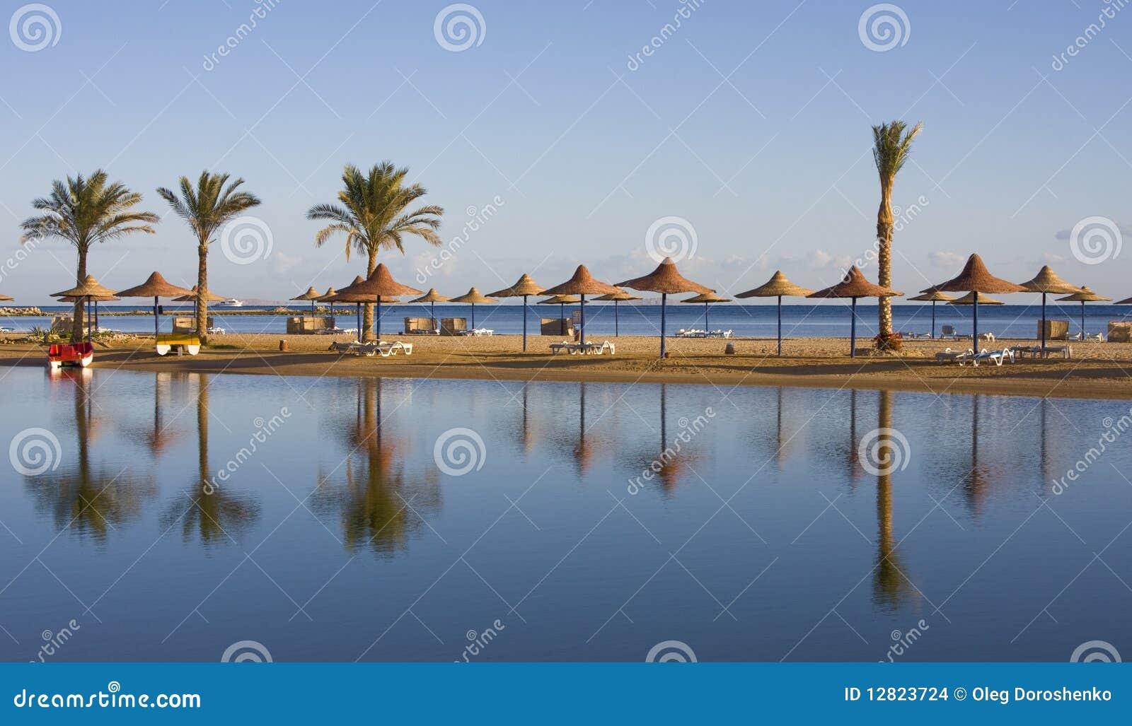 Plażowego Egypt hurghada czerwony morze