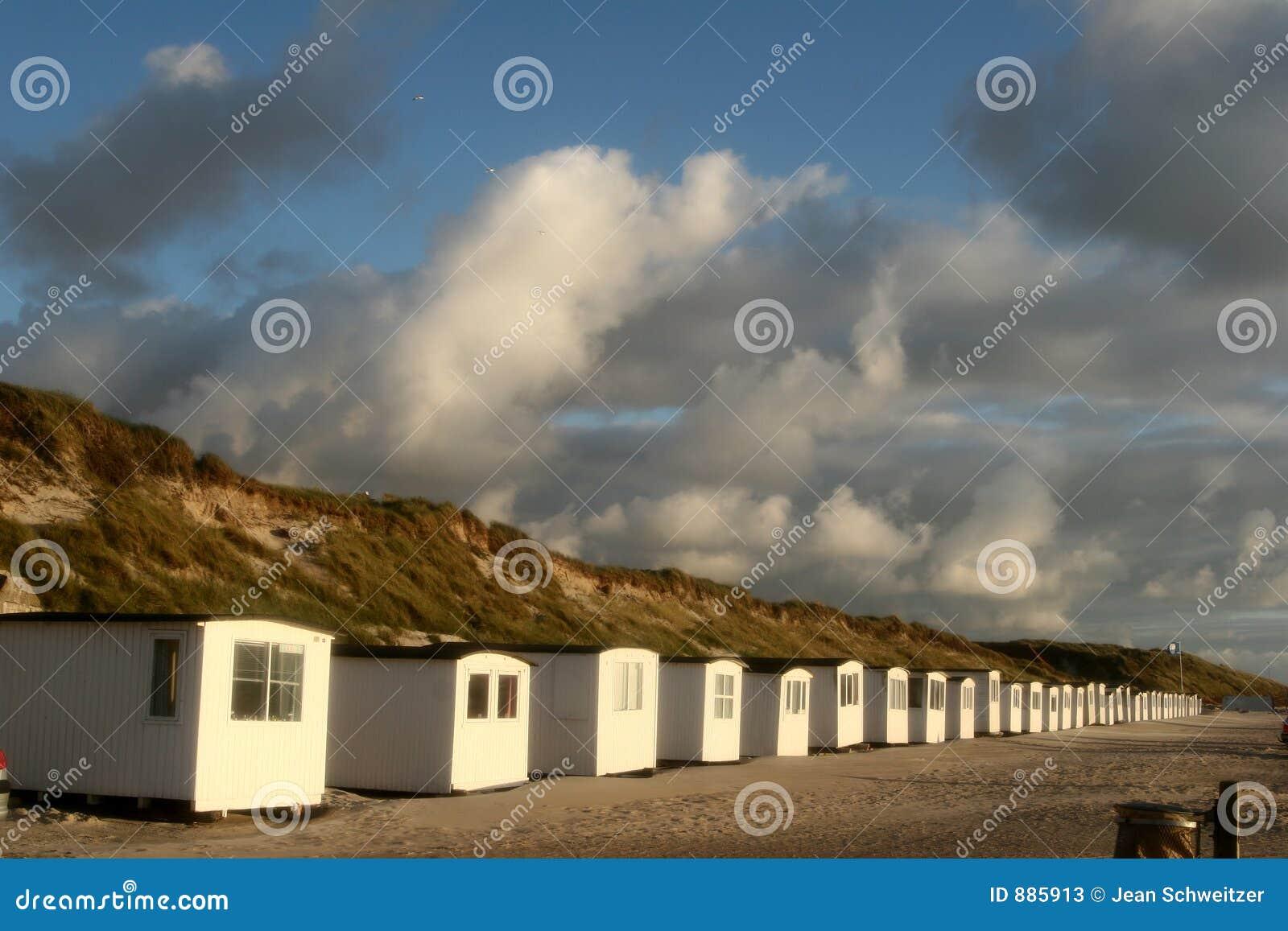 Plażowi domy.