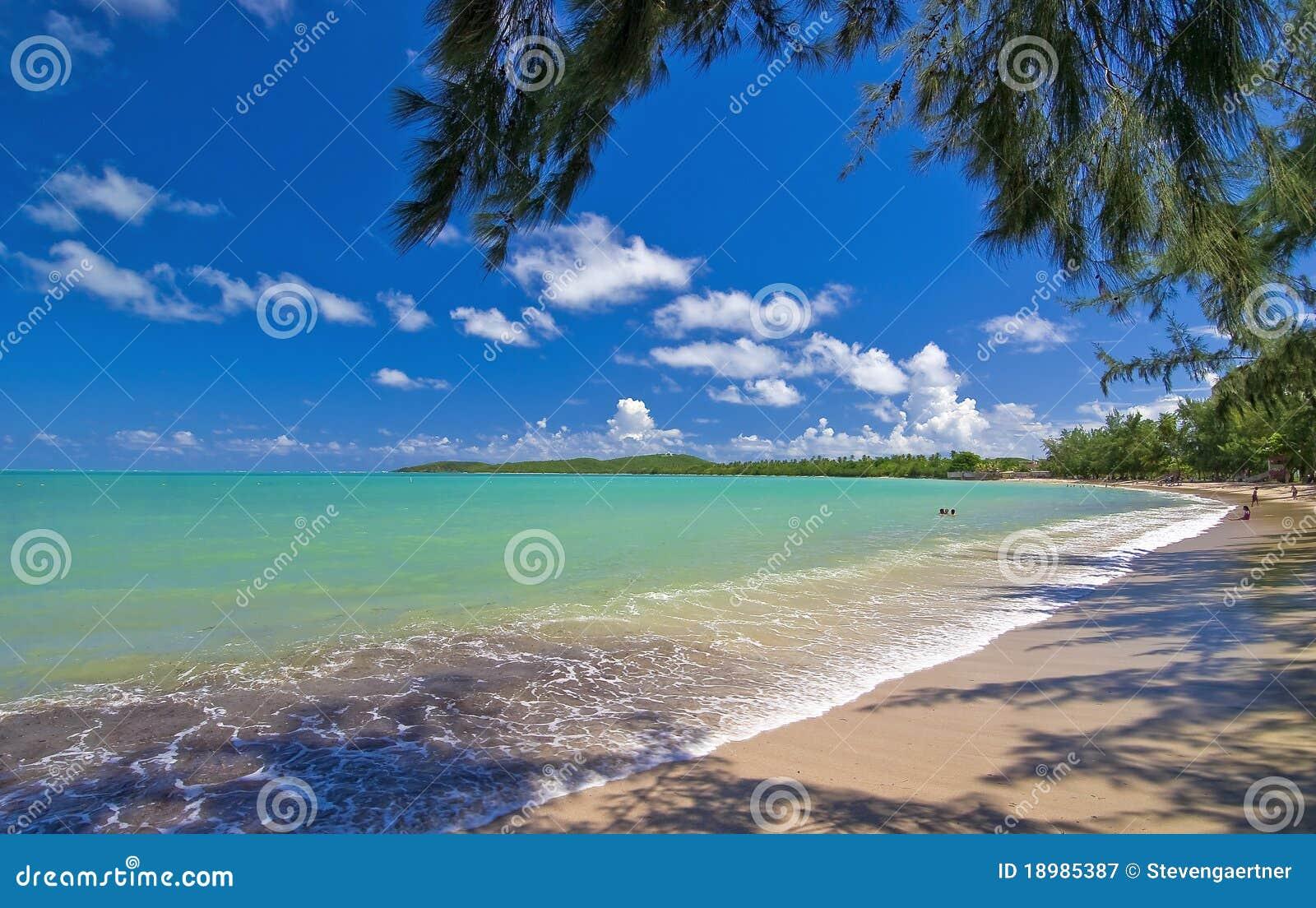 Plażowi puerto rico morza siedem