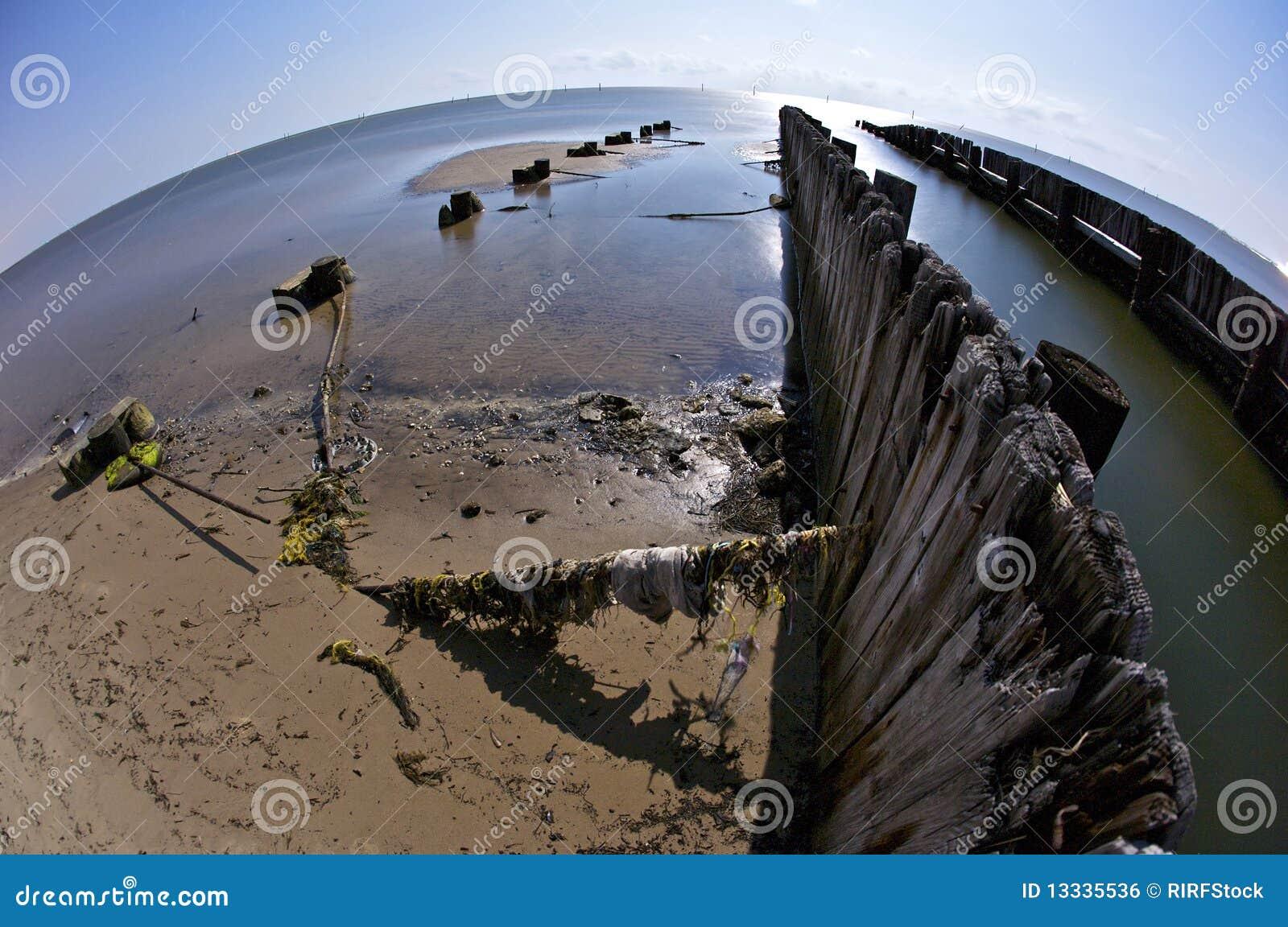 Plażowy biloxi łamający mola