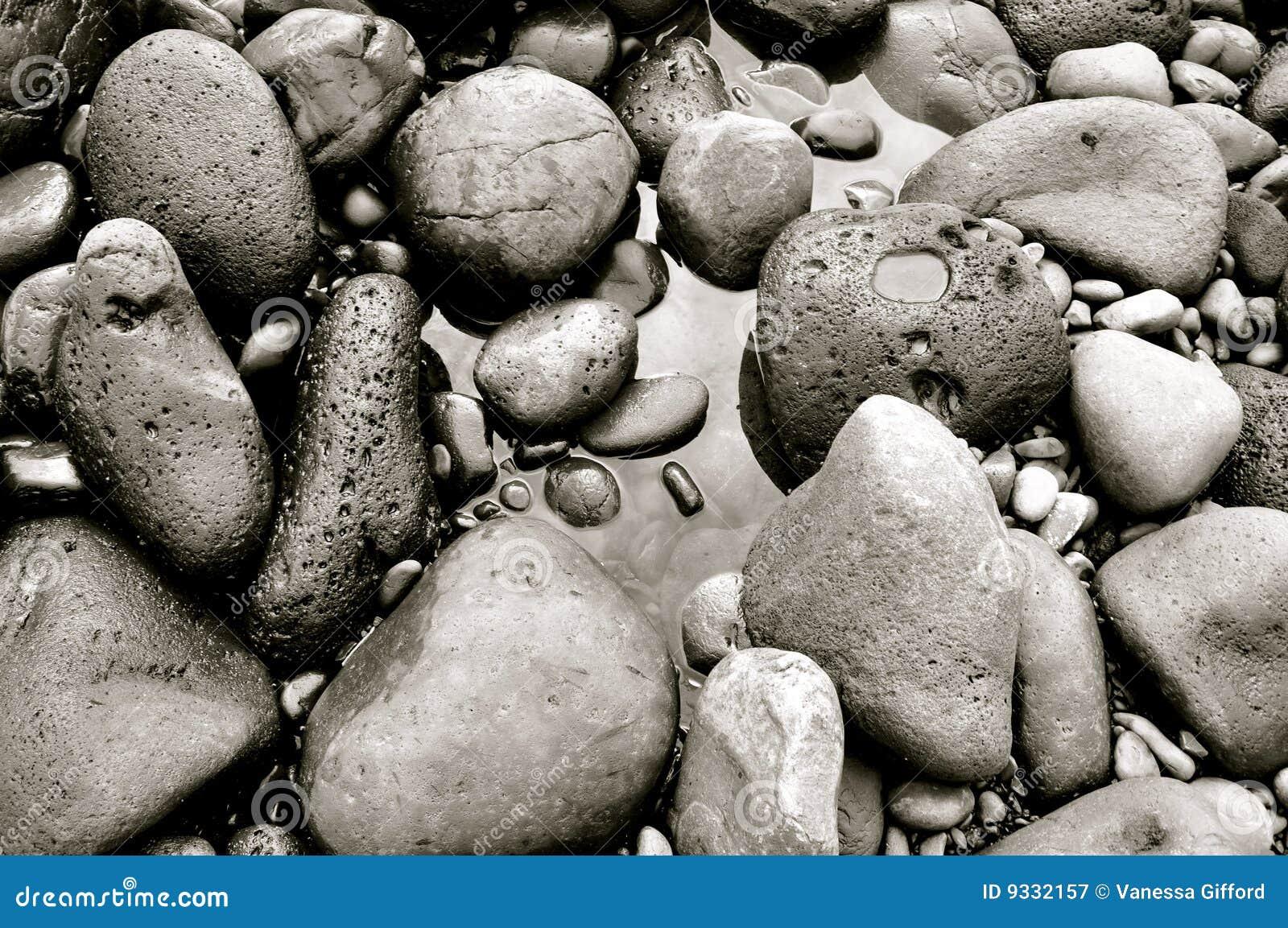 Plażowy czarny target1798_0_ Hawaii Maui skał piasek