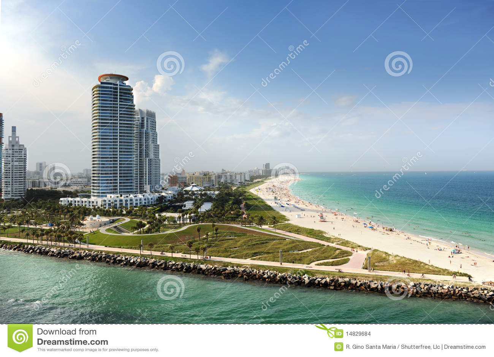 Plażowy Florida Miami