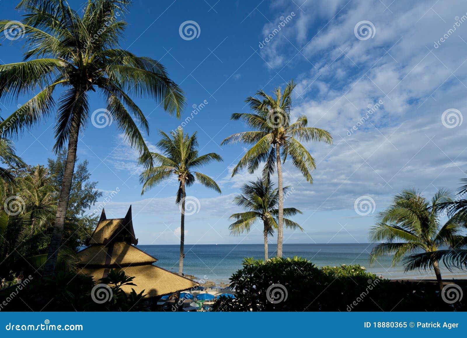 Plażowy karon Thailand widok
