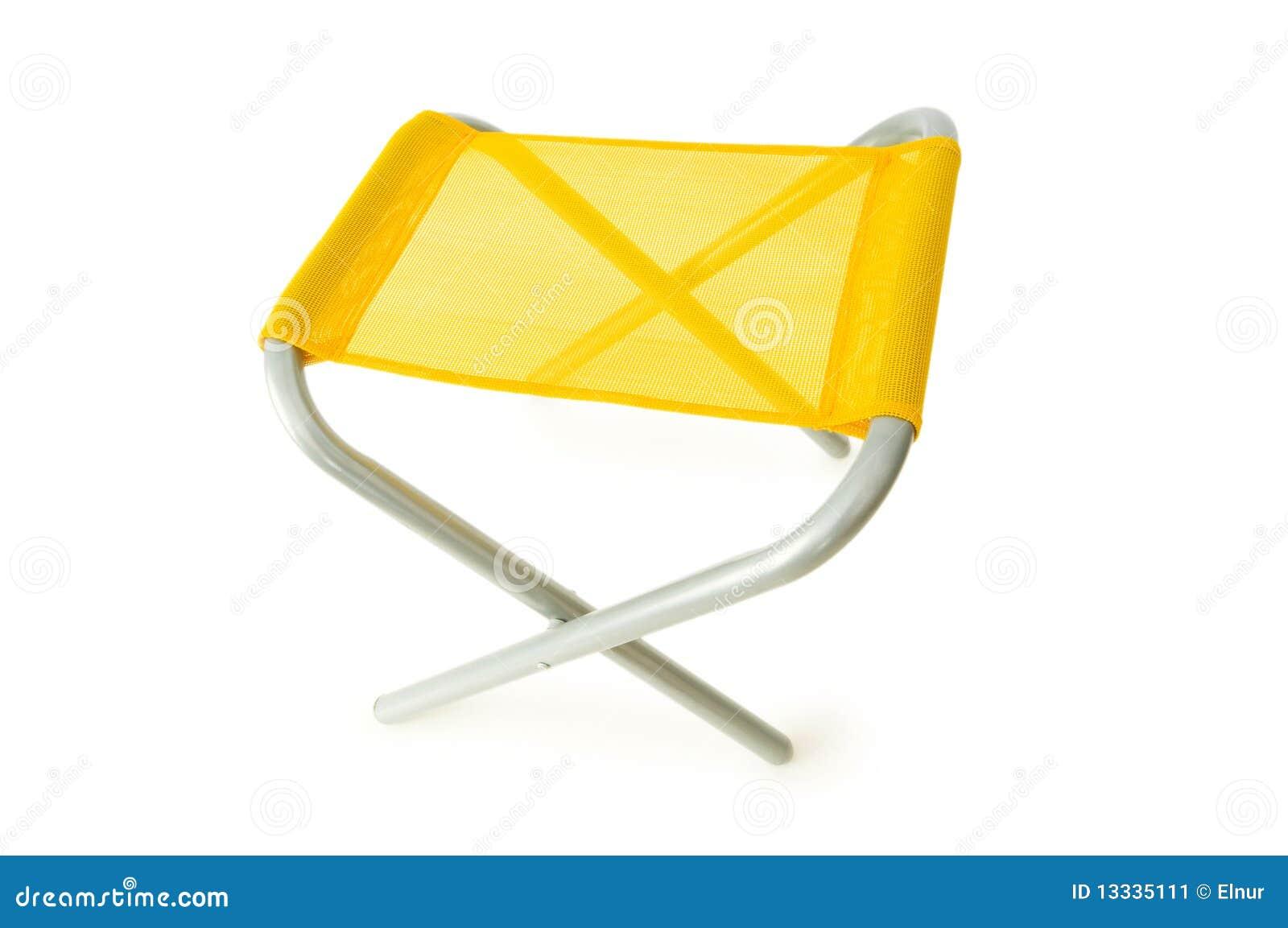 Plażowy krzesło odizolowywający na biel