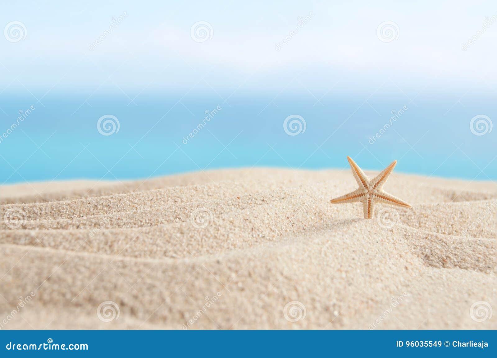 Plażowy piaska i nieba tło