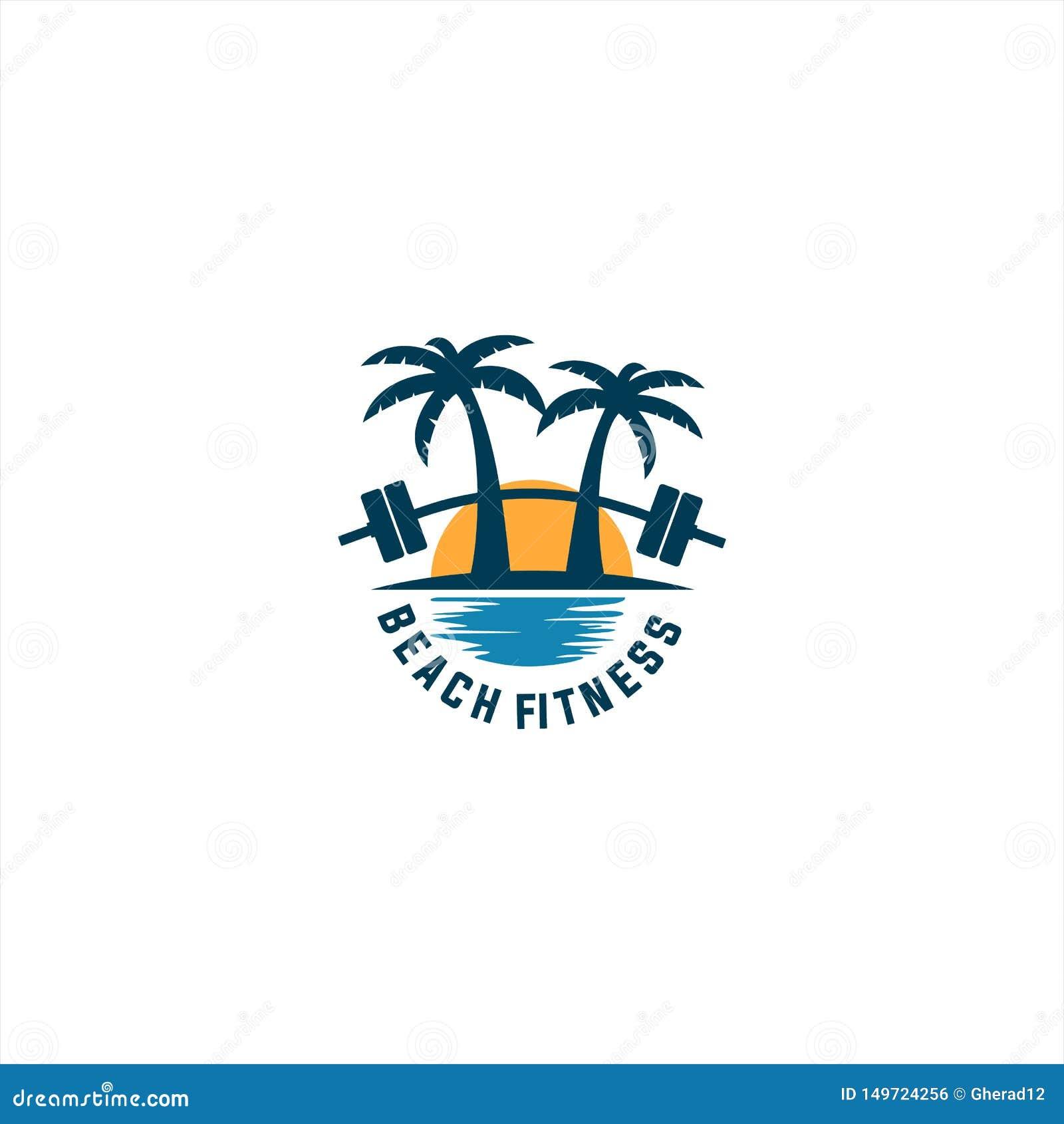 Plażowy sprawność fizyczna logo