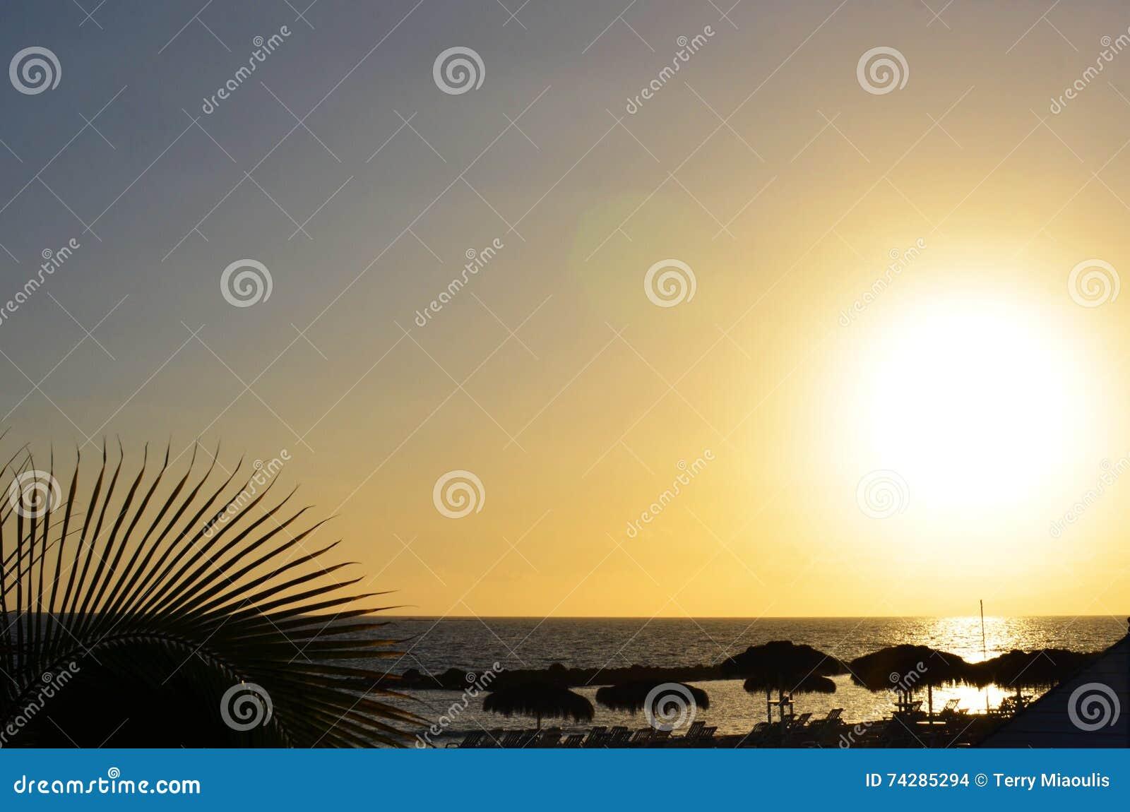 Plażowy zmierzch w Florida
