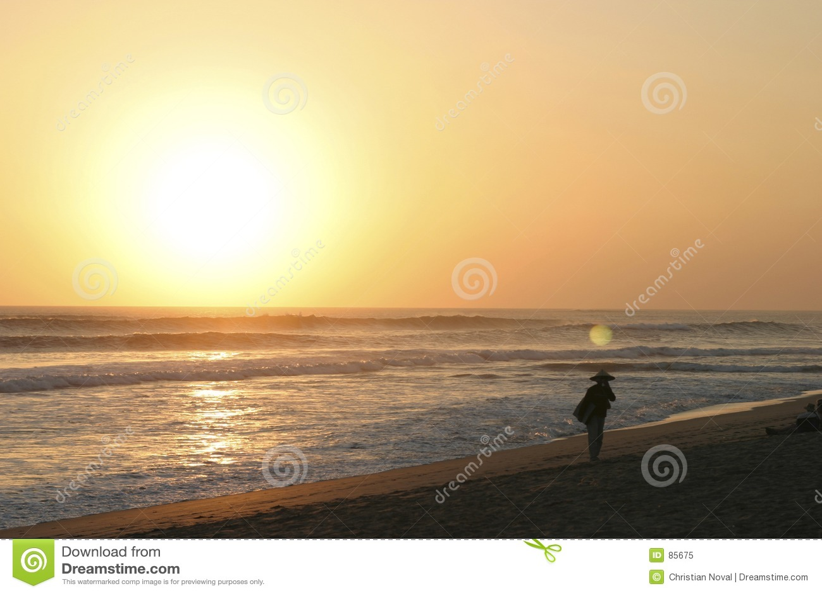 Plaży bali kuta słońca
