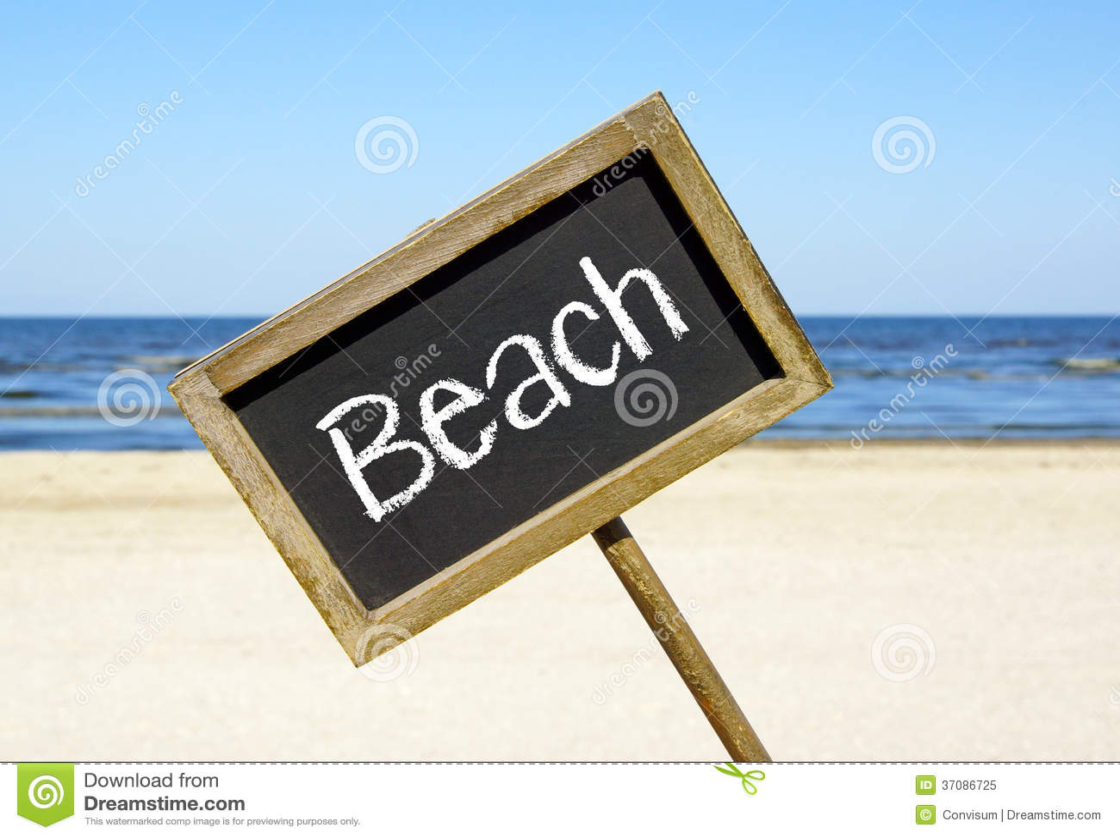 Download Plażowy chalkboard znak obraz stock. Obraz złożonej z coastline - 37086725