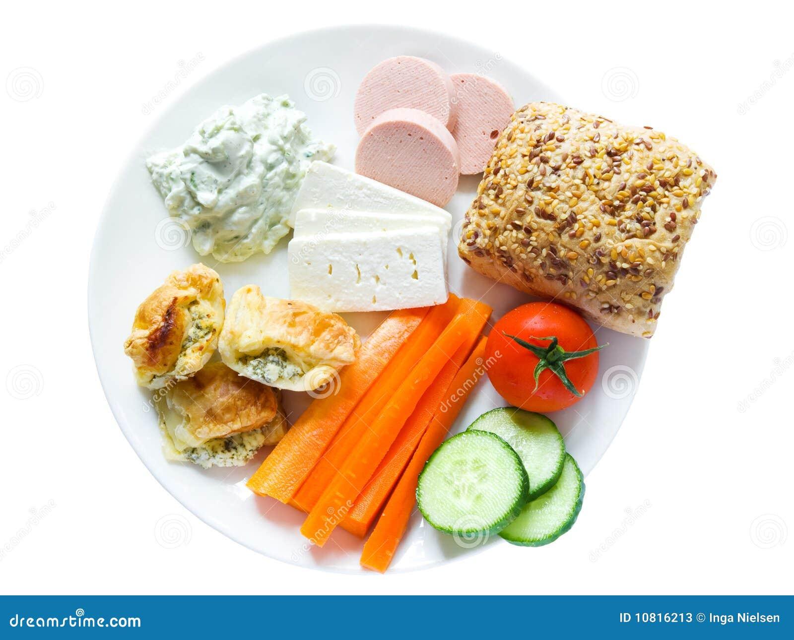 Plaat met snacks