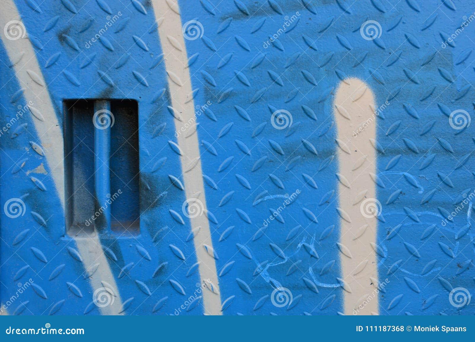 Plaat van de Kobalt de blauwe scheur met deurhandvat