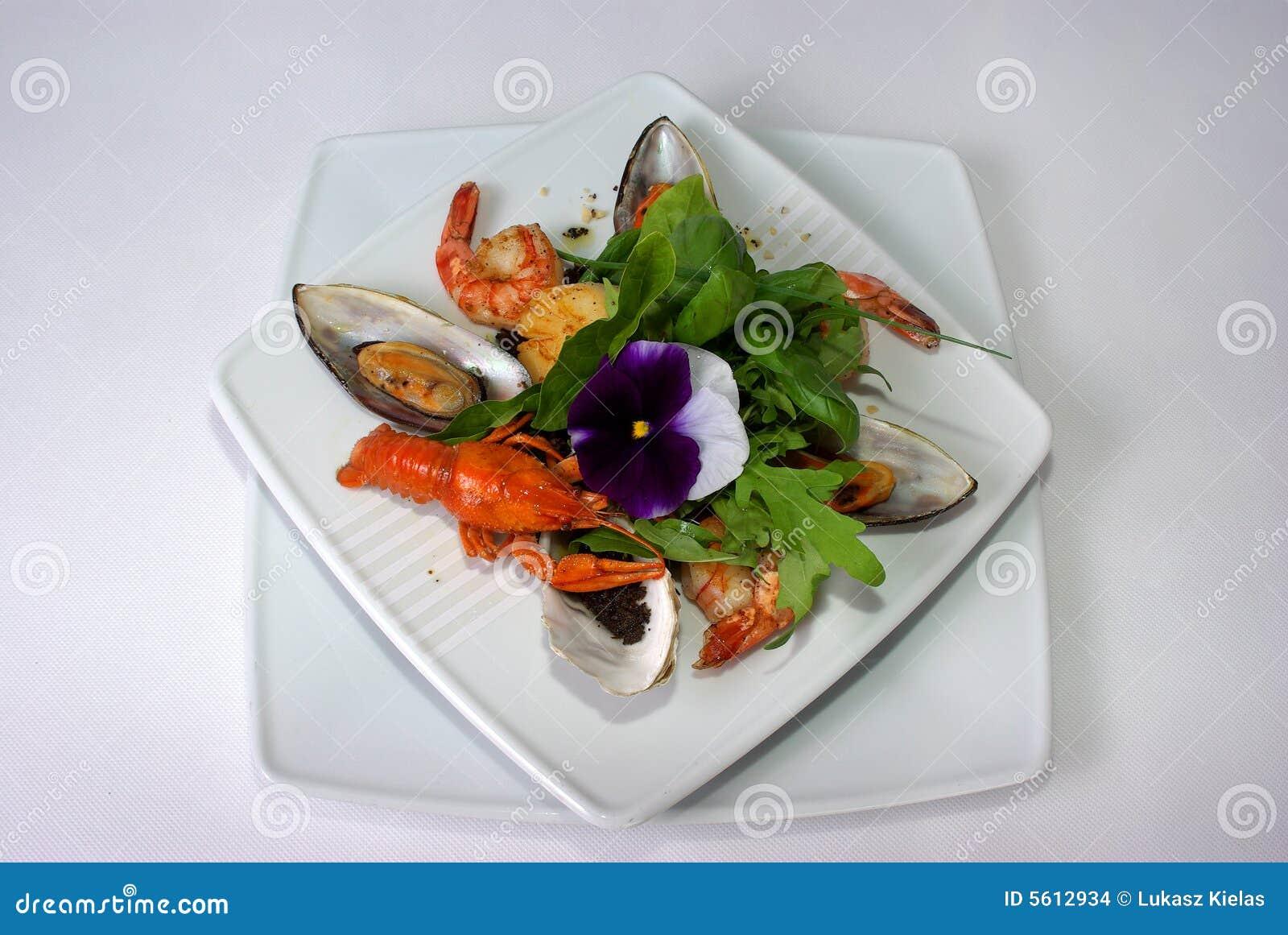 Plaat van fijne het dineren maaltijd